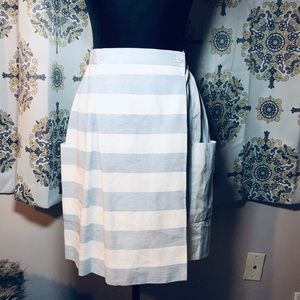 JH Collectibles Baby Blue Striped Pocket Skirt